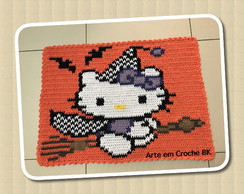 Tapete Croche Hello Kitty Halloween