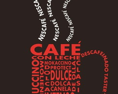 Placa Decorativa Quarto Cafe Frases