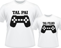 Camisa Tal Pai Tal Filha(o) VIDEO GAME