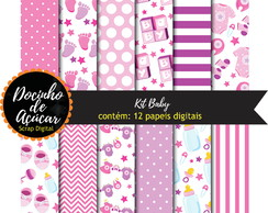 Kit Scrap Digital - baby pink