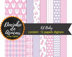 Kit Scrap Digital - baby rosa claro