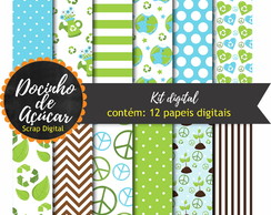 Kit Scrap Digital - ecologia