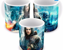 Caneca Game Of Thrones Jon Snow E White Walkers