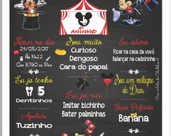 Chalkboard Circo do Mickey