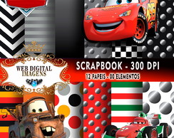 SCRAPBOOK Carros- 12 Papeis - 04 Elementos - CD16
