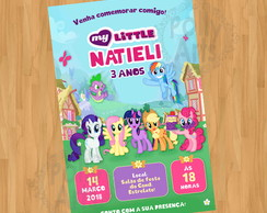 Arte Convite My Little Pony Digital Virtual