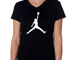 Camiseta Baby Look Preta Supreme Jordan Air Anti-trincagem 4