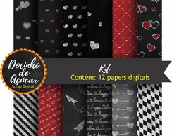 Kit Scrap Digital - papel digital quadro negro
