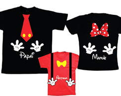 Camisetas personalizadas para aniversario do Mickey e Minnie
