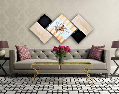 Quadro Abstrato Decorativo Grande Artesanal - Luxuoso