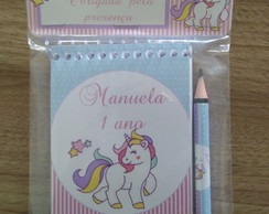 kit bloquinho unicornio