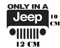 Adesivo Logo Jeep Only in Frete Grátis