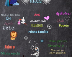Arte digital Chalkboard Frozen