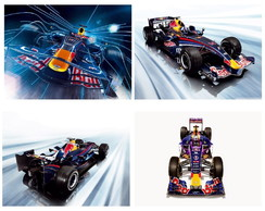 Plaquinhas Decorativa Sala Carros Formula 1 Red Bull