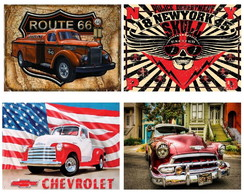 Posters Decorativo Retro Camionetes Ford Router 66