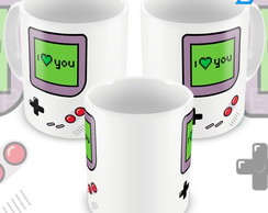 Caneca Game Boy I Love You Eu Te Amo