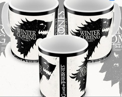 Caneca Game Of Thrones Winter Is Coming Casa Stark