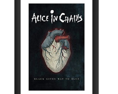 Quadro Alice In Chains Poster Rock Black Gives Way to Blue