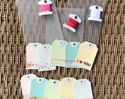 Tags para Presentes AMOR e PARIS (kit duplo)