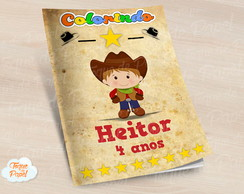 Revista colorir Cowboy Cute