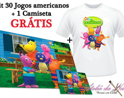 KIT 30 Jogos Americanos + Camiseta - Backyardigans