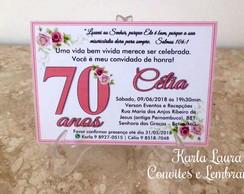 Frases Convite Aniversário 70 Anos Elo7