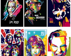 Placas Decorativas Pop Arts Atores do Rock