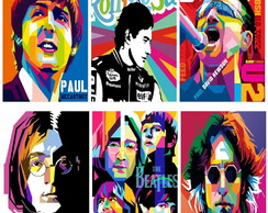Placas Decorativas Artistas do Rock Pop Arts
