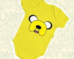 Body Infantil Bebê Face Jake Hora de Aventura B367AM