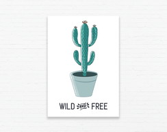 Quadrinho 19x27 Cactus Wild and Free