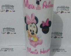 COPO LONG DRINK PERSONALIZADO MINNIE BEBE
