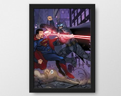 Batman vs Superman - Quadro decorativo Geek