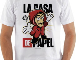 Camiseta Camisa La casa de papel Personagem