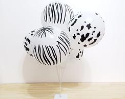 0469ed661 Bexiga Balão Metalizado Prateado Número 4 Tamanho G no Elo7