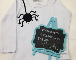 Camiseta aranha - patch aplique