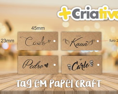 TAG PAPEL CRAFT 45X22MM