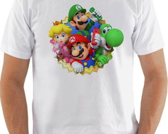 Camiseta Camisa Super Mario World personagens 2018