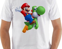 Camiseta Camisa Super Mario World e Yoshi