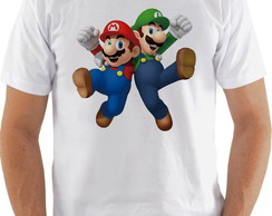 Camiseta Camisa Super Mario World e Luigui