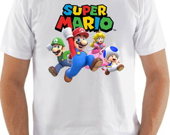 Camiseta Camisa Super Mario World personagens yes
