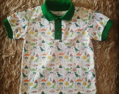 818ccacfc7 ... Camisa Pólo Infantil Dinossauros
