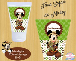 Arte digital rótulo para bisnaga 30 ml mickey safari