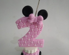 Vela de Biscuit Minnie Rosa