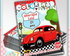 Revista de colorir Fusca