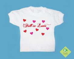 T-Shirt Bebê e Infantil FALL IN LOVE