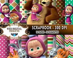 SCRAPBOOK Masha & The Bear- 16 Papeis 16 Elementos - CD56