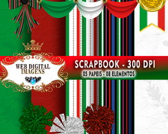 SCRAPBOOK Mexico- 05 Papeis 07 Elementos - CD58