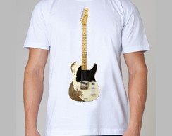 Camiseta Rock - Guitarra - Rock and Roll