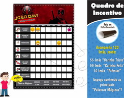Quadro Educativo Deadpool
