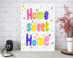 Placa Quadro Decorativa - Home Sweet Home